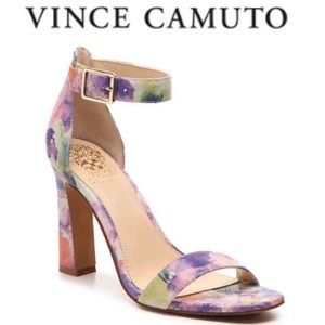 Vince Camuto Acelyn Floral Embossed Leather Sandal